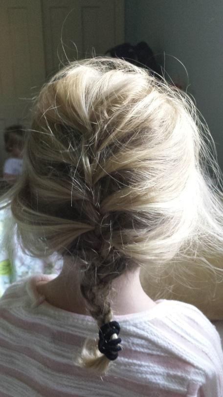 Ana's first braid